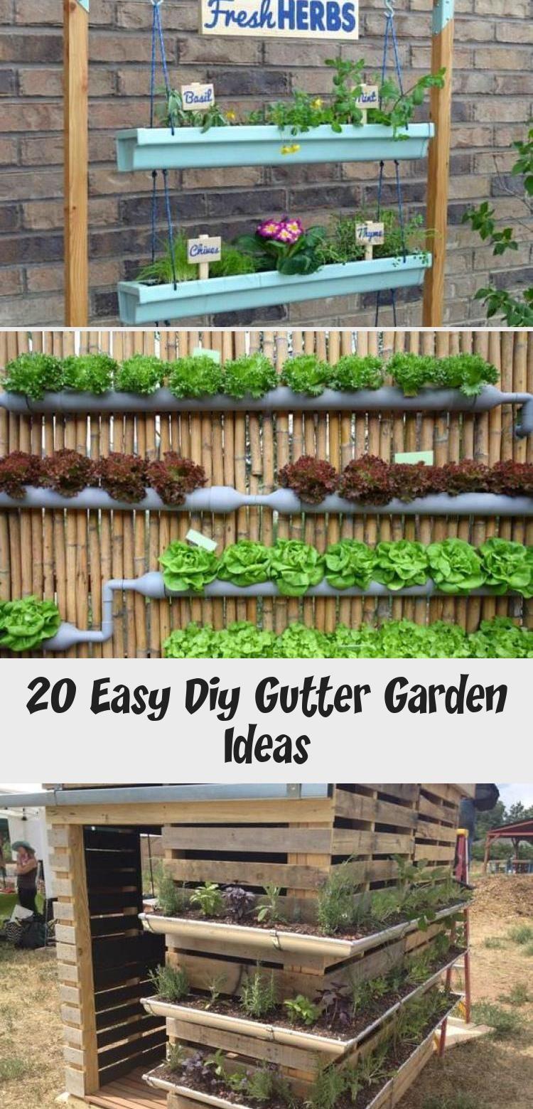 20 Easy Diy Gutter Garden Ideas Pallet In 2020 Gutter Garden Pallet Garden Cheap Garden Fencing