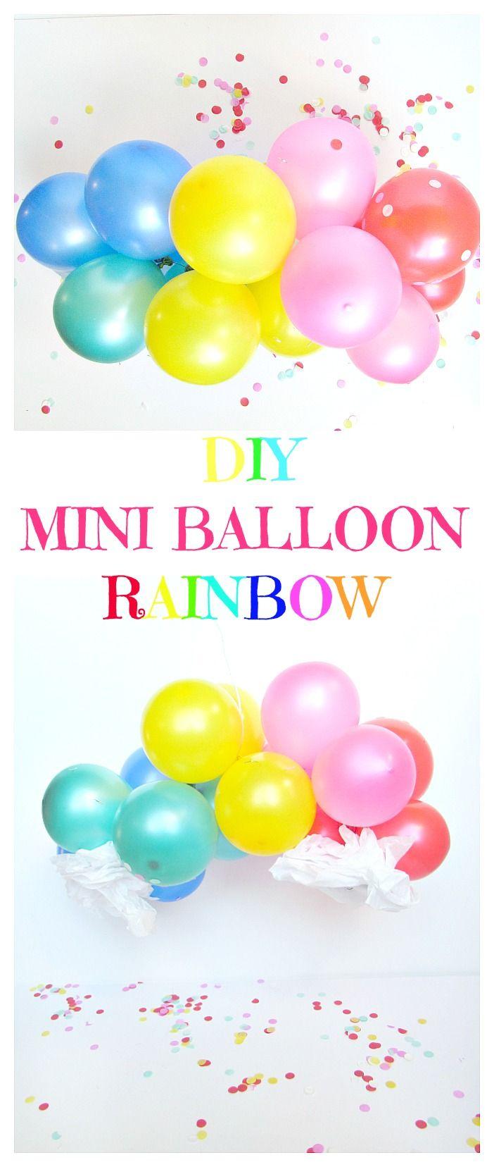 DIY Mini Balloon Rainbow