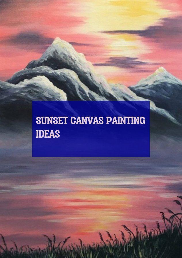 sunset canvas painting ideas