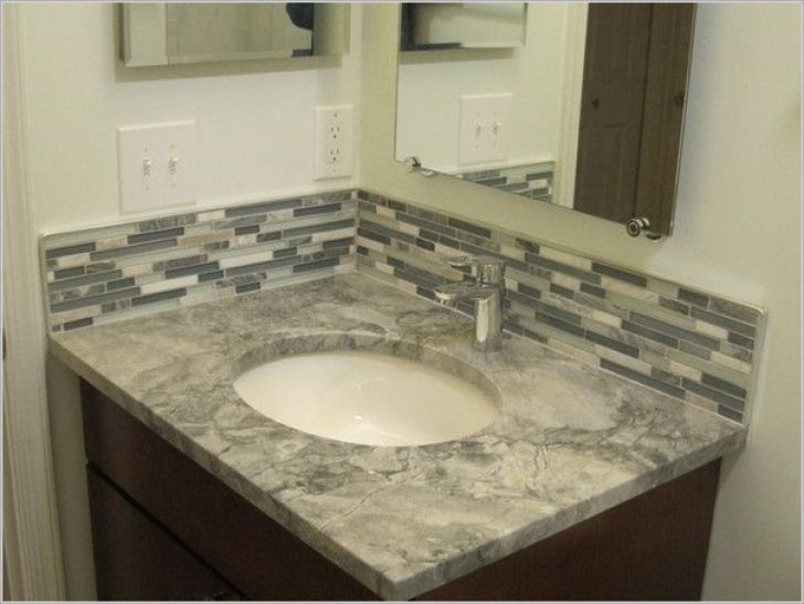 Marvelous bathroom vanity tile backsplash ideas bathroom for Innovative bathroom vanity backsplash ideas