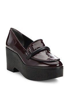 Xocole Patent Leather Platform Loafers
