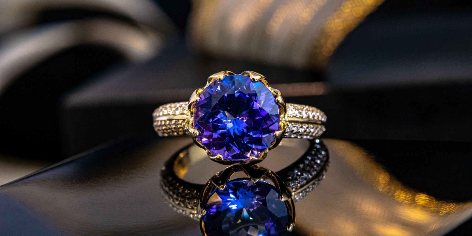 Round Cut topaze bleue de Tanzanite Gemme FREE SHIP Femmes Mariage Silver Ring Cadeau