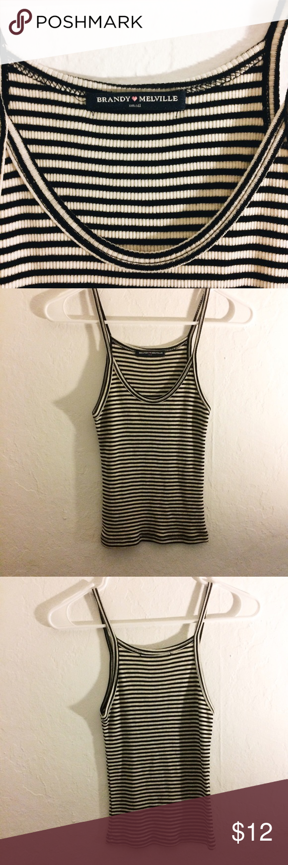 Brandy Melville Tank Black and white stripes are the way to go. This tank has never been worn and it is in perfect condition! Let me know if you have any questions :) Brandy Melville Tops Tank Tops