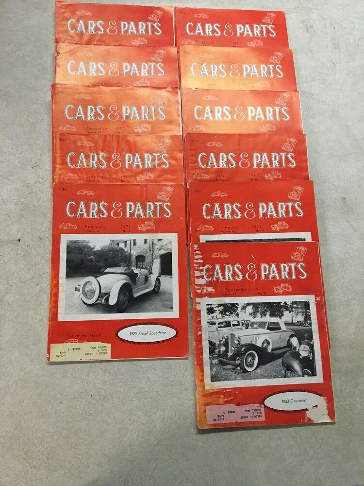Advertisement Ebay Cars Parts Vintage Magazine 1968 Lot Of 11 Issues Vol 1 8 10 12 Lot 4 Car Parts Vintage Magazine