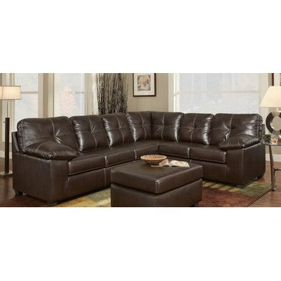 Chelsea Home Tamera Sectional Upholstery Ty Red Leather Sofa Sectional Sectional Sofa Sectional Furniture