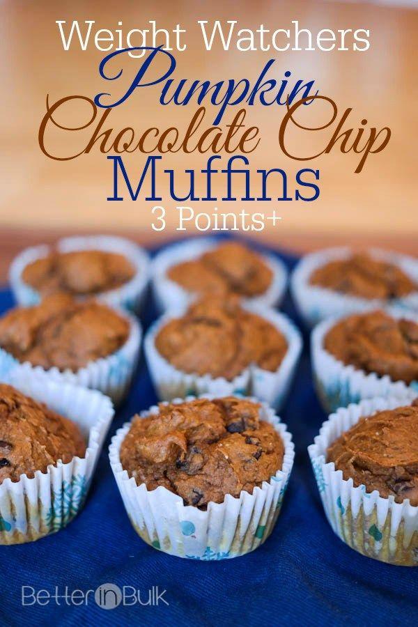 Weight Watchers Chocolate Pumpkin Muffins (1 PointsPlus) #pumpkinmuffins