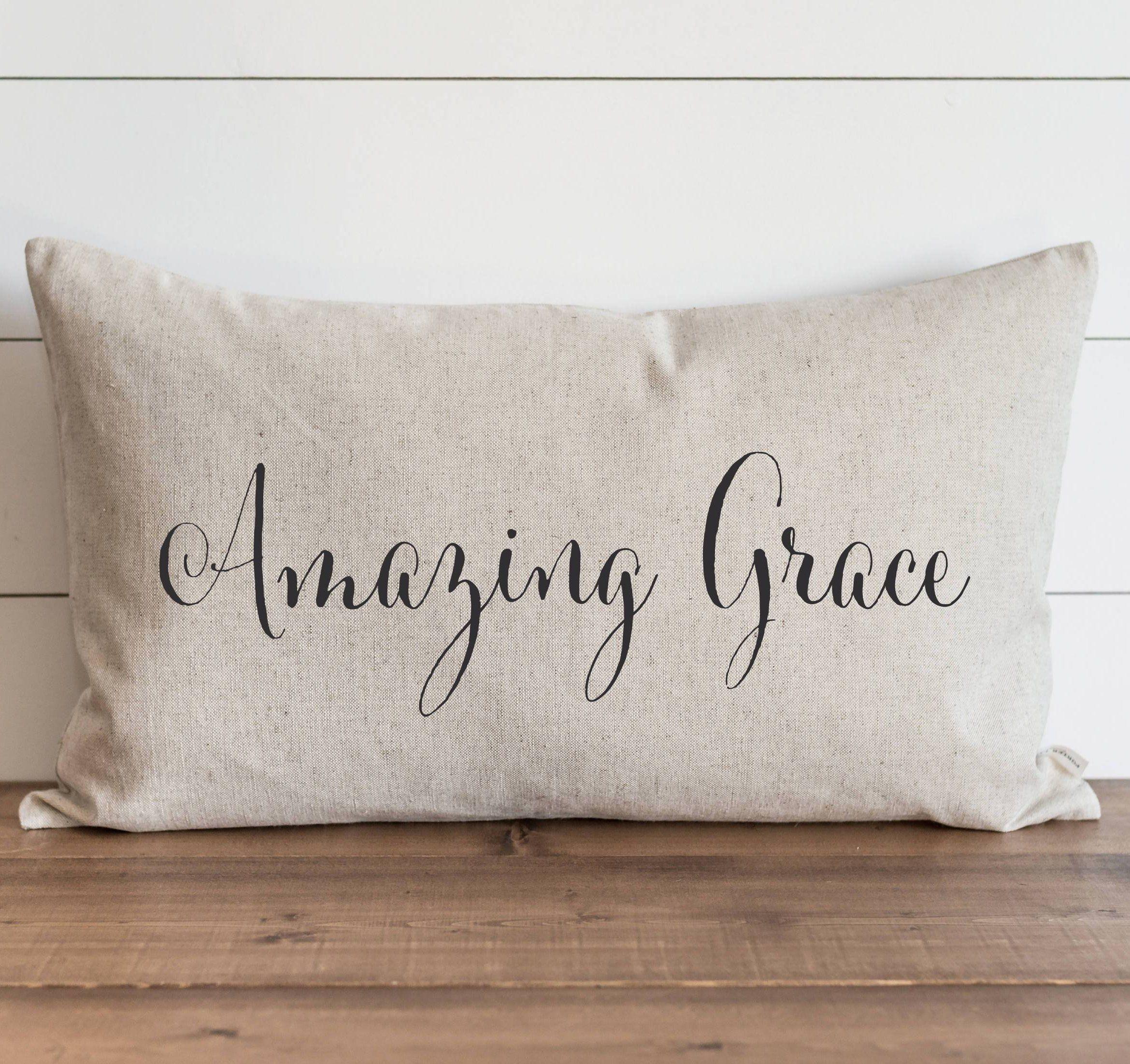 Amazing Grace Pillow Cover.