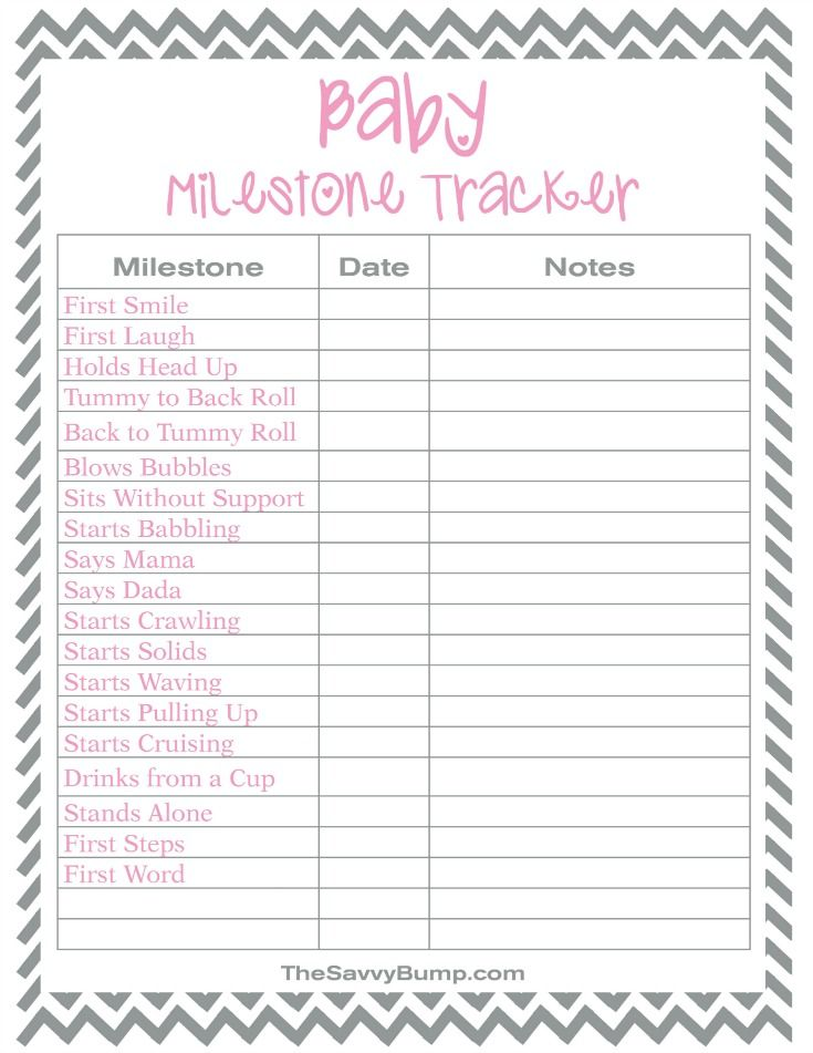 Keep Track Of Those Special Moments With This Free Printable Baby Milestone Tracker