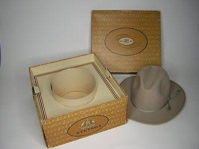 1965 Stetson 3x Beaver Quality Cowboy Hat 7 3 8 With Box Hats For Sale Vintage Men Cowboy Hats
