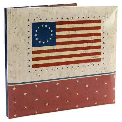 "American Flag Post Bound Album - 12""X12"","