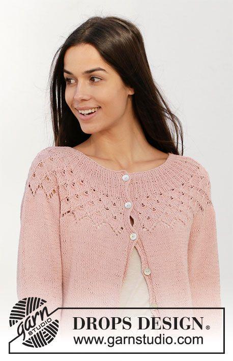 Alberta Rose Jacket / DROPS 212-6 - Free knitting patterns by DROPS Design