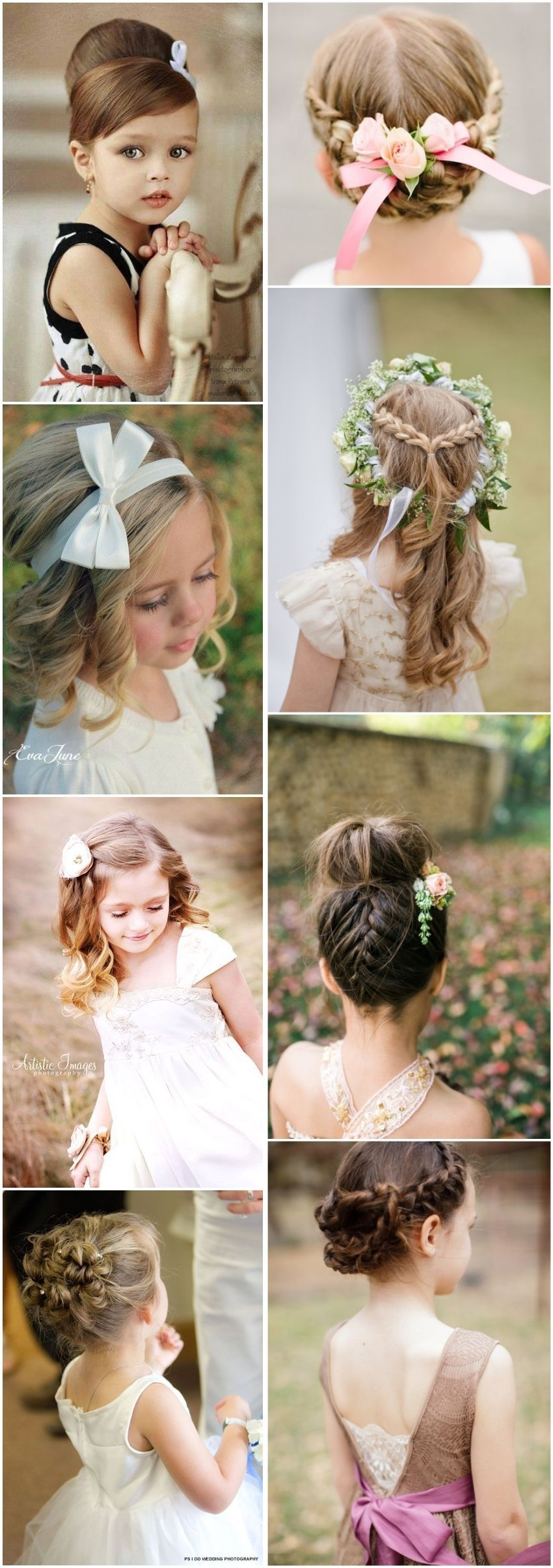 super cute little girl hairstyles for wedding Детские прически