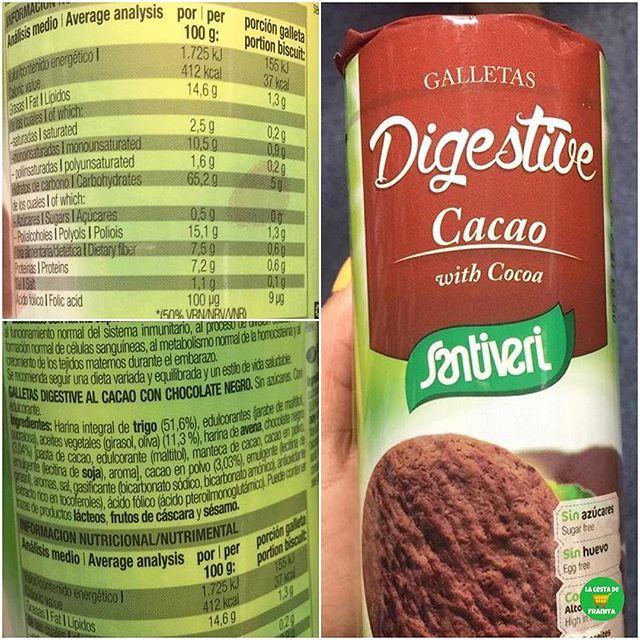 Galletas Digestive Cacao Con Coco Santiveri Official
