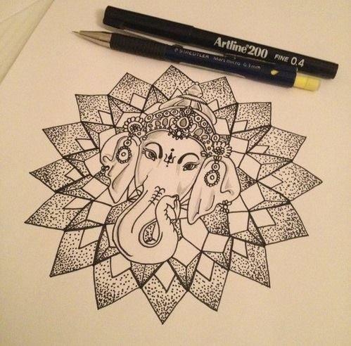Tattoo Tatuagem Ganesha Tatoo Tatuagem Elefante Indiano