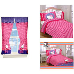 Hello Kitty Comforter Sheet Set And Curtain Set Value Bundle Kids