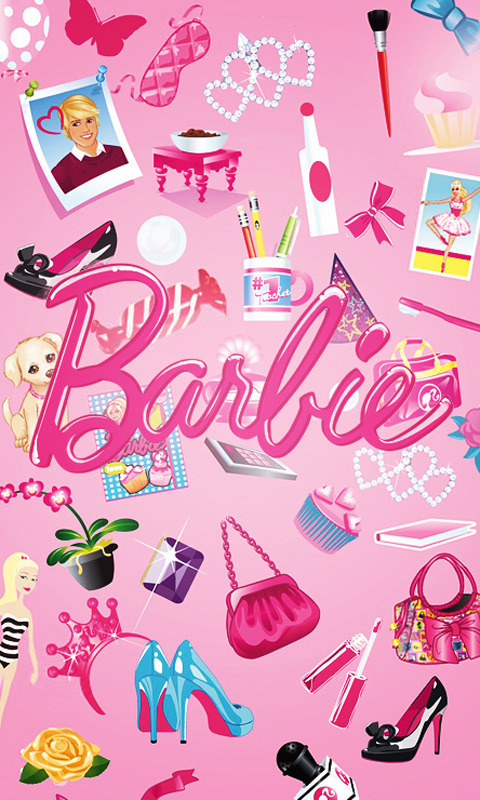 Mobile Wallpapers Barbie painting, Iphone wallpaper