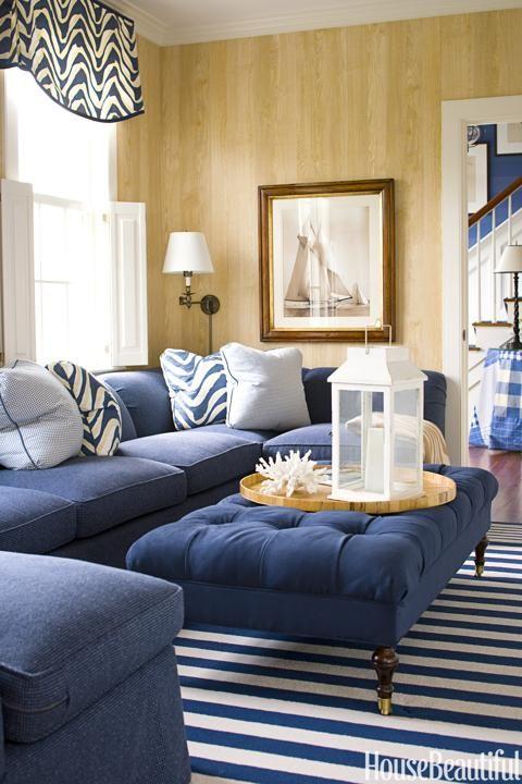 10 Nautical Inspired Rooms Coastal Decorating Living Room Traditional Family Rooms Coastal Living Rooms