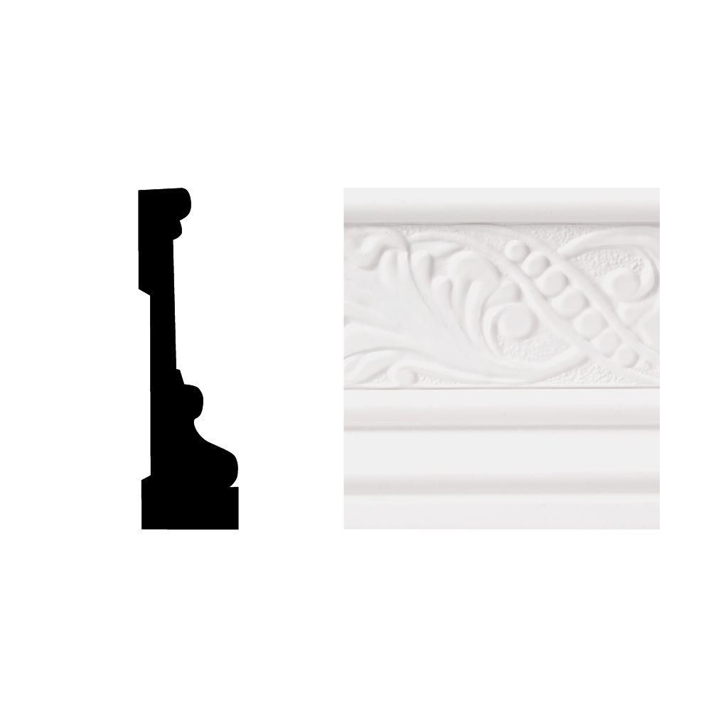 Royal Mouldings 6702 11 16 In X 3 1 2 In X 8 Ft Pvc Composite White Casing Moulding 0670208009 The Home Depot Mouldings House Trim Remodeling Mobile Homes