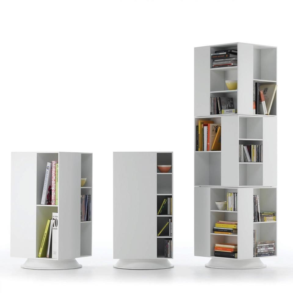 Box rotating bookshelf, clever!