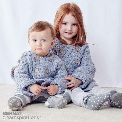 Bernat Big Kid Cozy Crochet Hoodie | Bebe