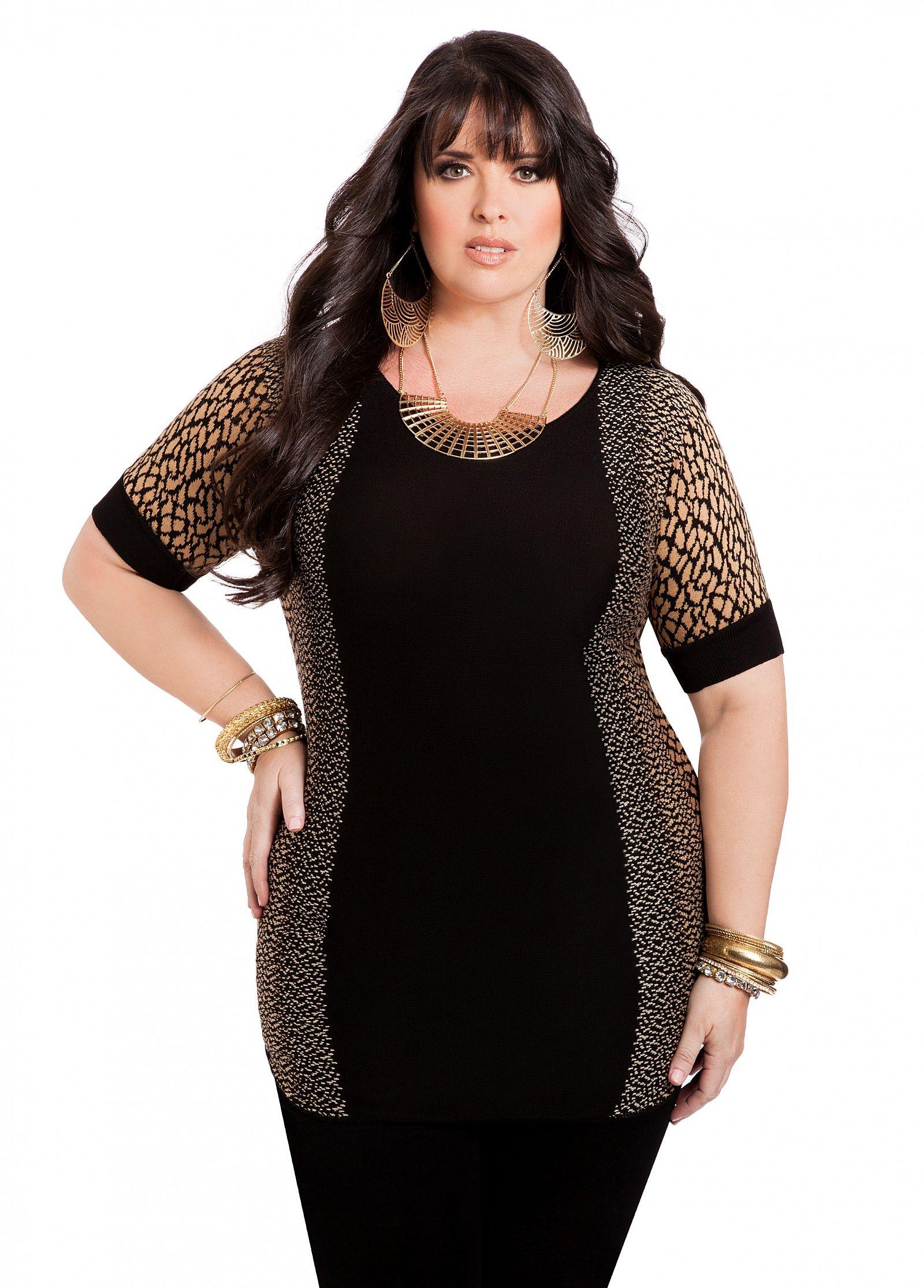 d3b204473ceb1 Ashley Stewart  Animal Print Knit Top  UNIQUE WOMENS FASHION Evening  Dresses Plus Size