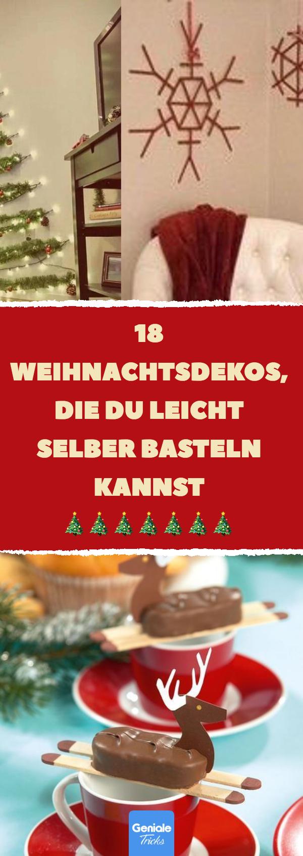 18 Weihnachtsdekos, die du leicht selber basteln kannst. #weihnachten #diy #deko #dekoration #schmuck #basteln #erhöhtepflanzbeete