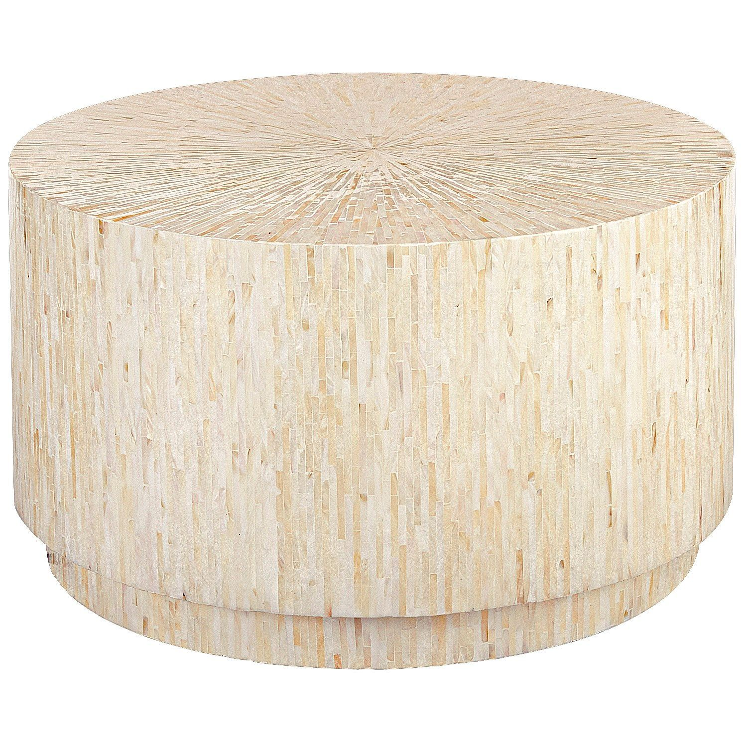 Phenomenal Mother Of Pearl Round Coffee Table Shealy In 2019 Drum Pdpeps Interior Chair Design Pdpepsorg