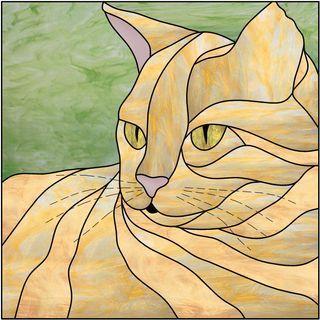 Vitrail 39 chat 39 gatos pinterest vitraux chats et motif dessin - Dessin vitraux ...