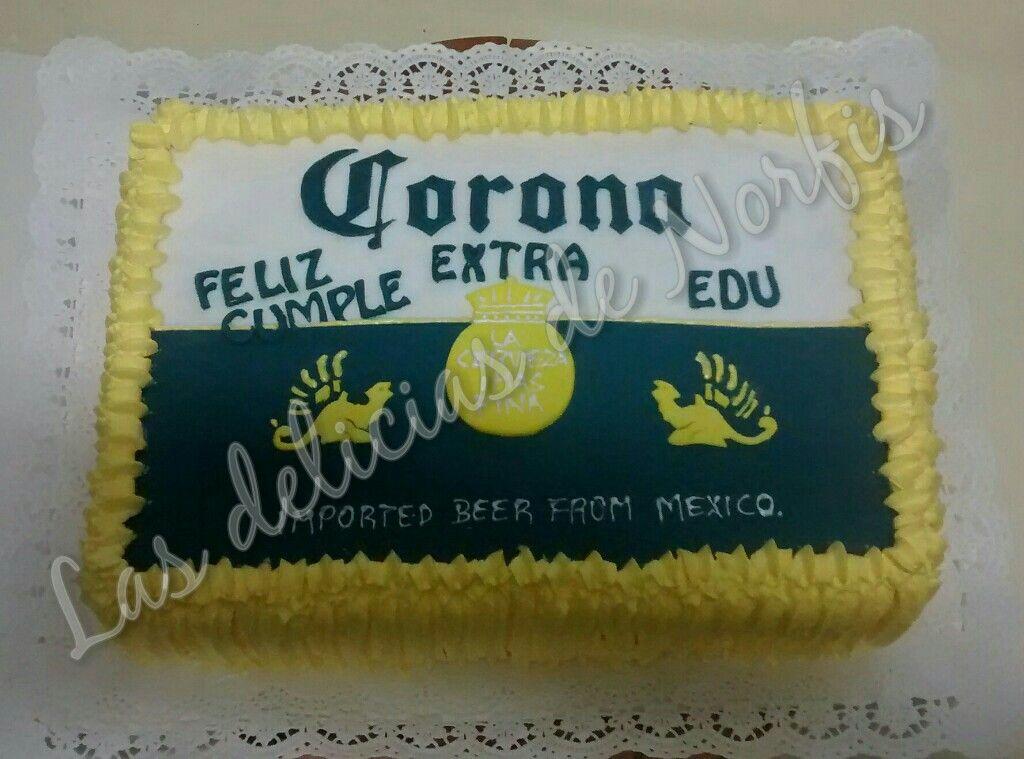 Torta en Fondant y crema cerveza corona  Las Delicias de