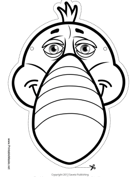 toucan mask to color printable mask free to download and print
