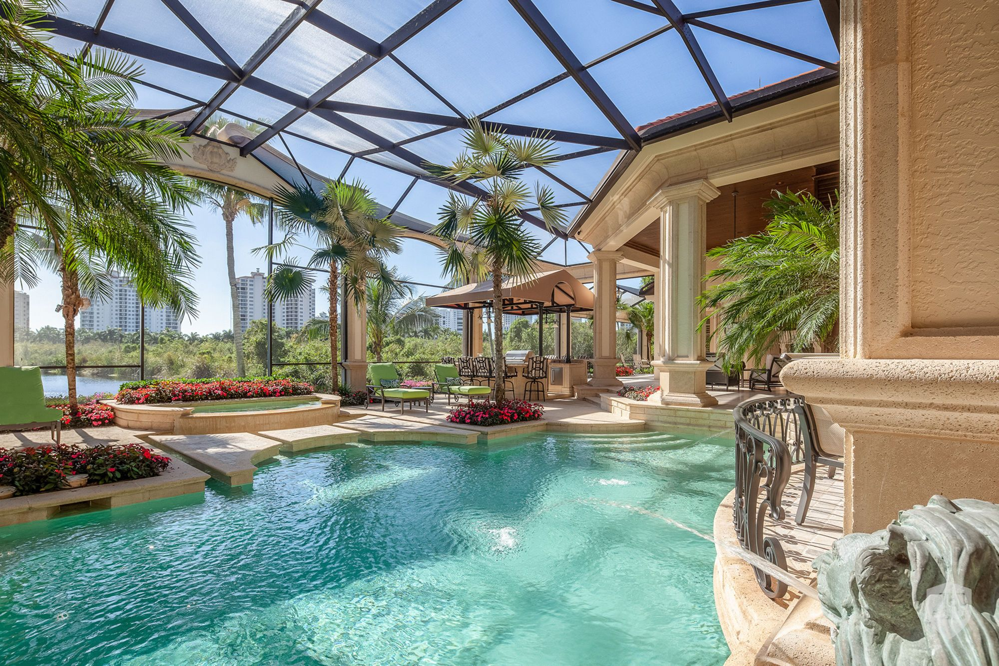 Pelican Bay Bay Colony Shores In Naples Fl United States For Sale On Jamesedition Indoor Outdoor Pool Estate Homes Naples Homes For Sale
