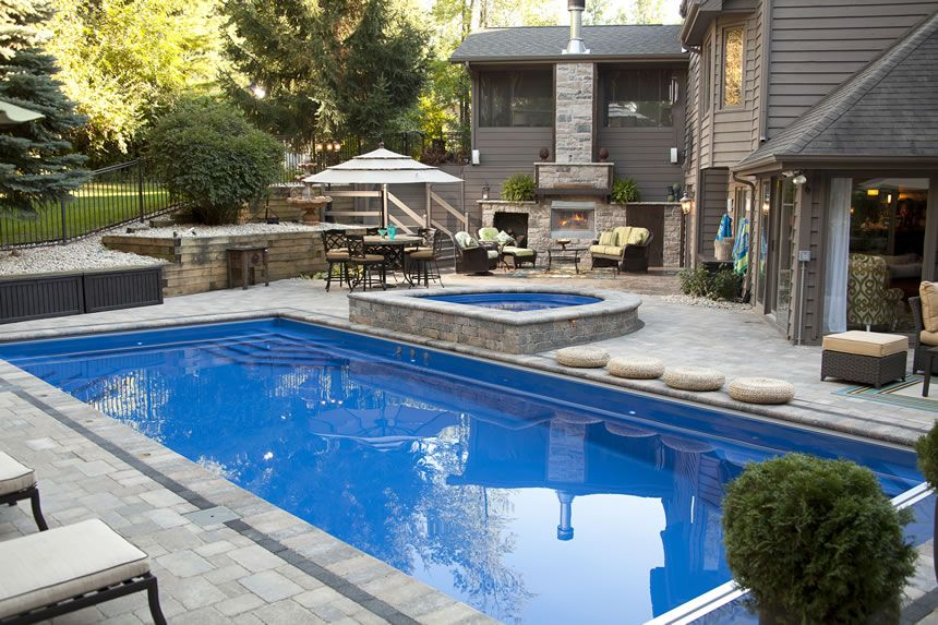 Fiberglass inground pools blue mint pools ontario canada for Pool design hamilton