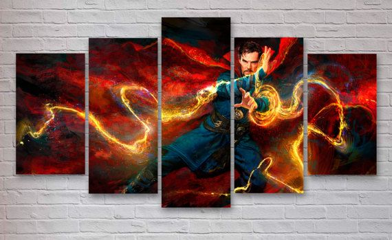 Marvel Wall Art dr strange - marvel movie 5 panel / piece canvas - wall art