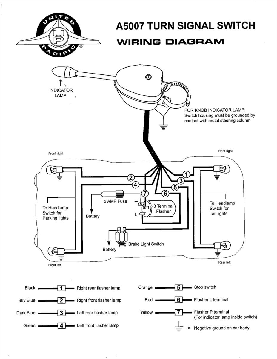 turn signal switch schematic wiring diagram img Headlight Switch Wiring Diagram