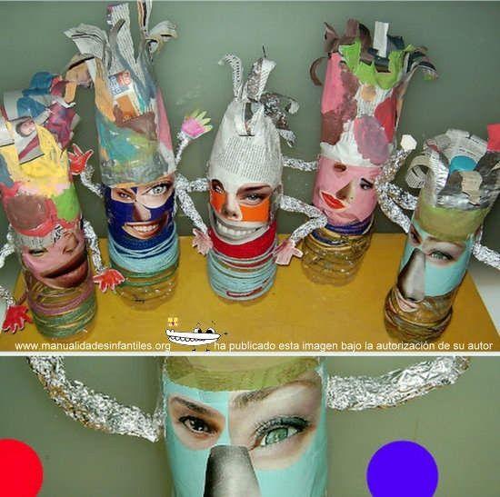Manualidades de carnaval con materiales de reciclado - Manualidades infantiles recicladas ...