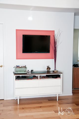 DIY Frame for a Flat Screen Television   Repurposed and DIY Stuff ...