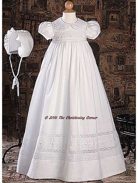 c498793a38 Hand Embroidered Heirloom Christening Gown