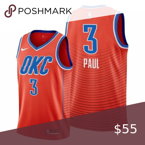 Oklahoma City Thunder Chris Paul Jersey 1 Brand New With Tags 2 All Items Fit True To Official Size 3 Mach Chris Paul Jersey Oklahoma City Thunder Chris Paul
