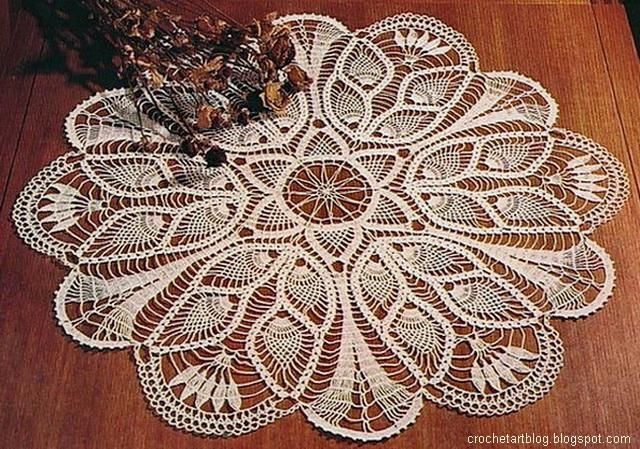 Crochet Tablecloth Pattern Free Pineapple Crochet Lace And Tulip
