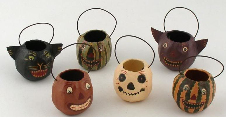 halloween ornaments | Image of Vintage Style Halloween Ghostie Nut Cup Ornaments courtesy ...