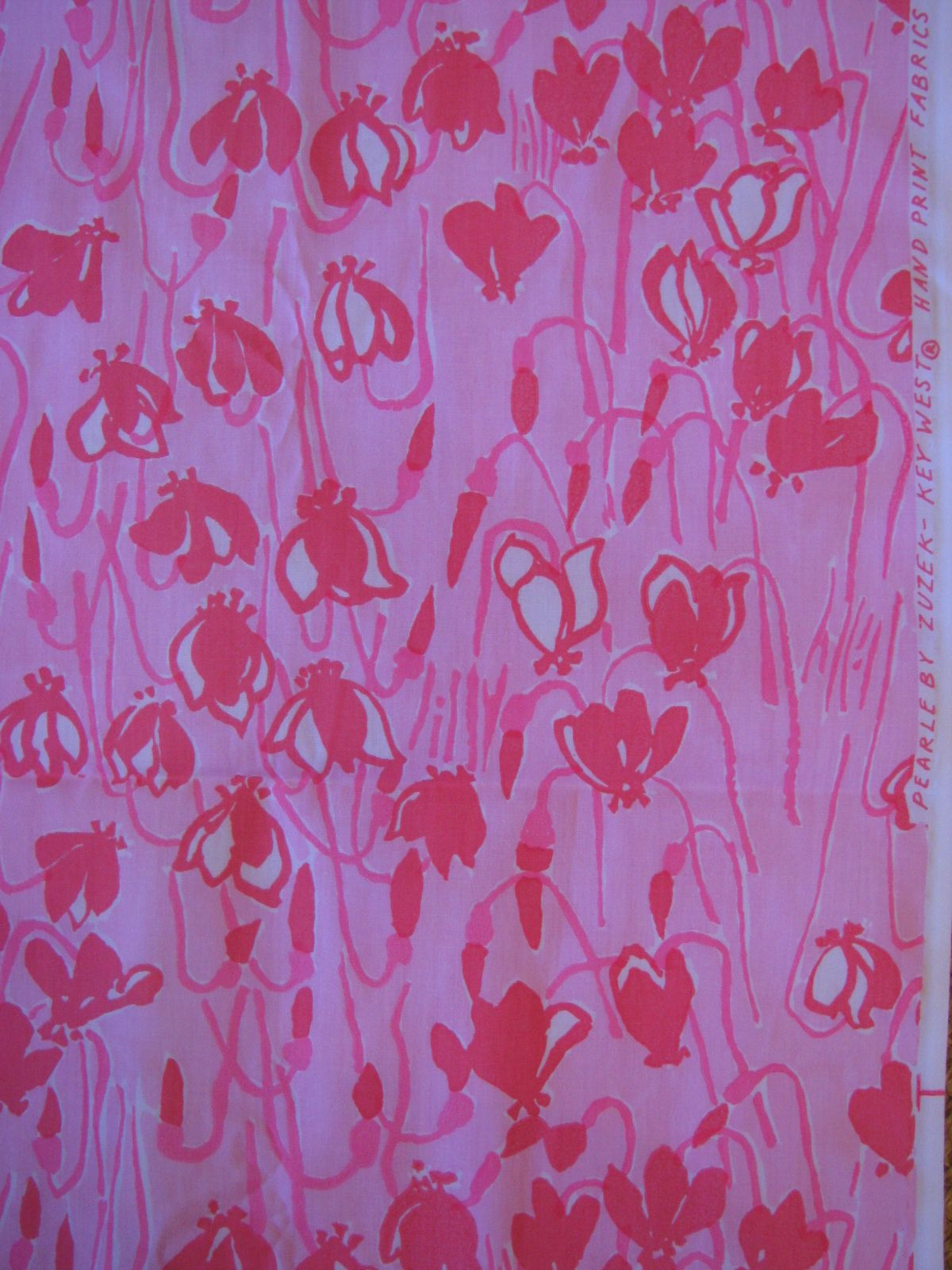 Lilly Pulitzer Fabric Pearle By Zuzek Key West Hand Print Fabrics Vintage Lilly