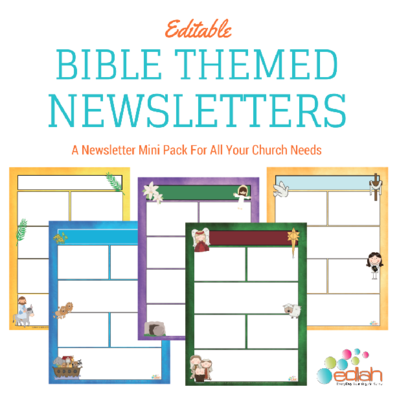 ChurchBible Story Newsletter Template Mini Pack Word Users From