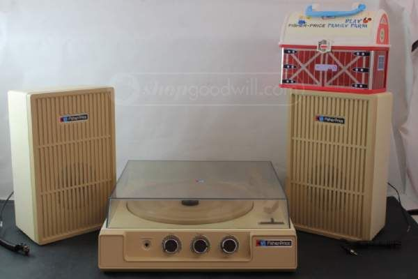 FISHER-PRICE Stereo System 00835 & Lunchbox | Vintage