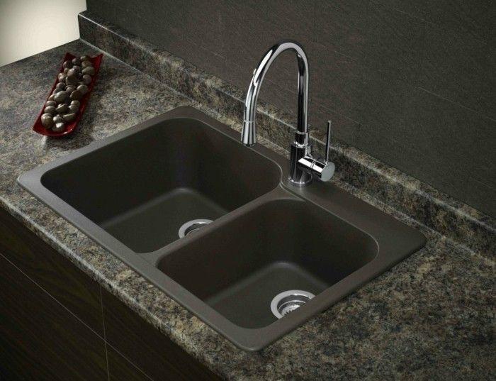 Spülbecken Granit Dunkle Nuancen | Esszimmer - Esstisch Mit