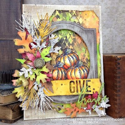 Give Thanks Autumn Canvas with Ranger Ink