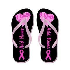 547936644 I Walk For - Add Name Flip Flops For Breast Cancer Awareness   BreastCancerAwareness  FlipFlops  Sandals  PinkRibbon  CustomGift   CustomFlipFlops  Pink ...
