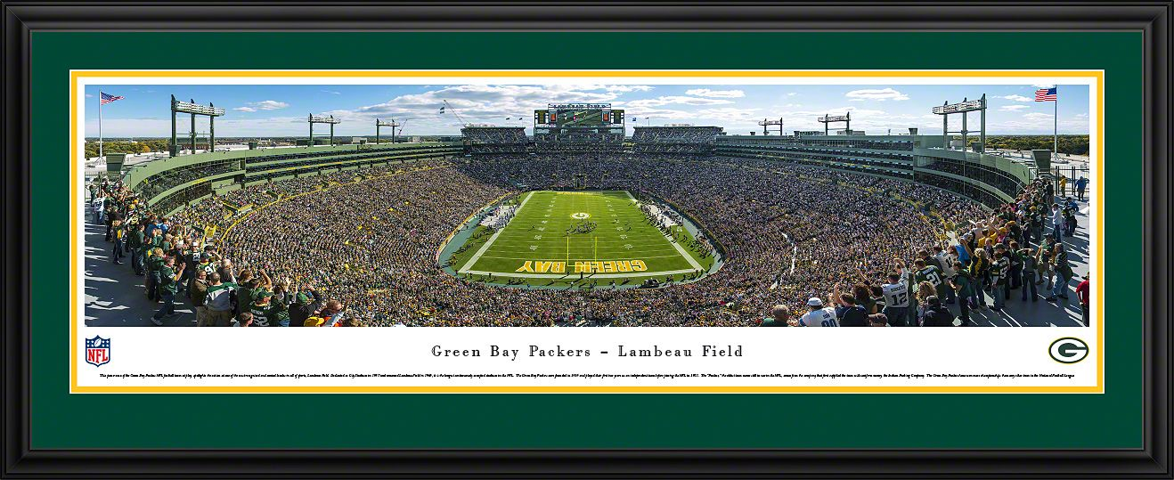 Green Bay Packers Panoramic Lambeau Field Picture Green Bay Packers Nfl Green Bay Lambeau Field