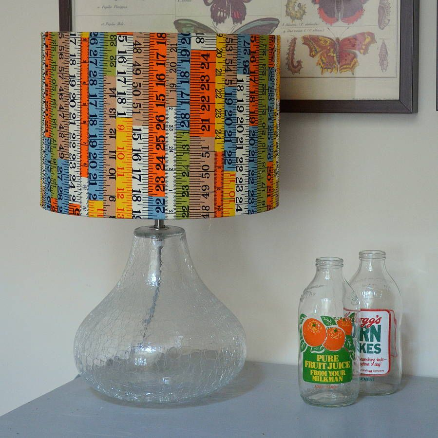 Tape Measure Fabric Lampshade Crafts Fabric Lampshade