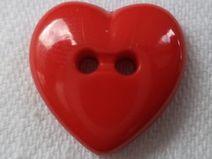11 Knöpfe Herz rot 16mm (1287)