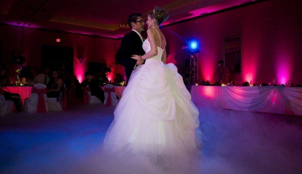 Uplighting Around The Wedding Dance Floor